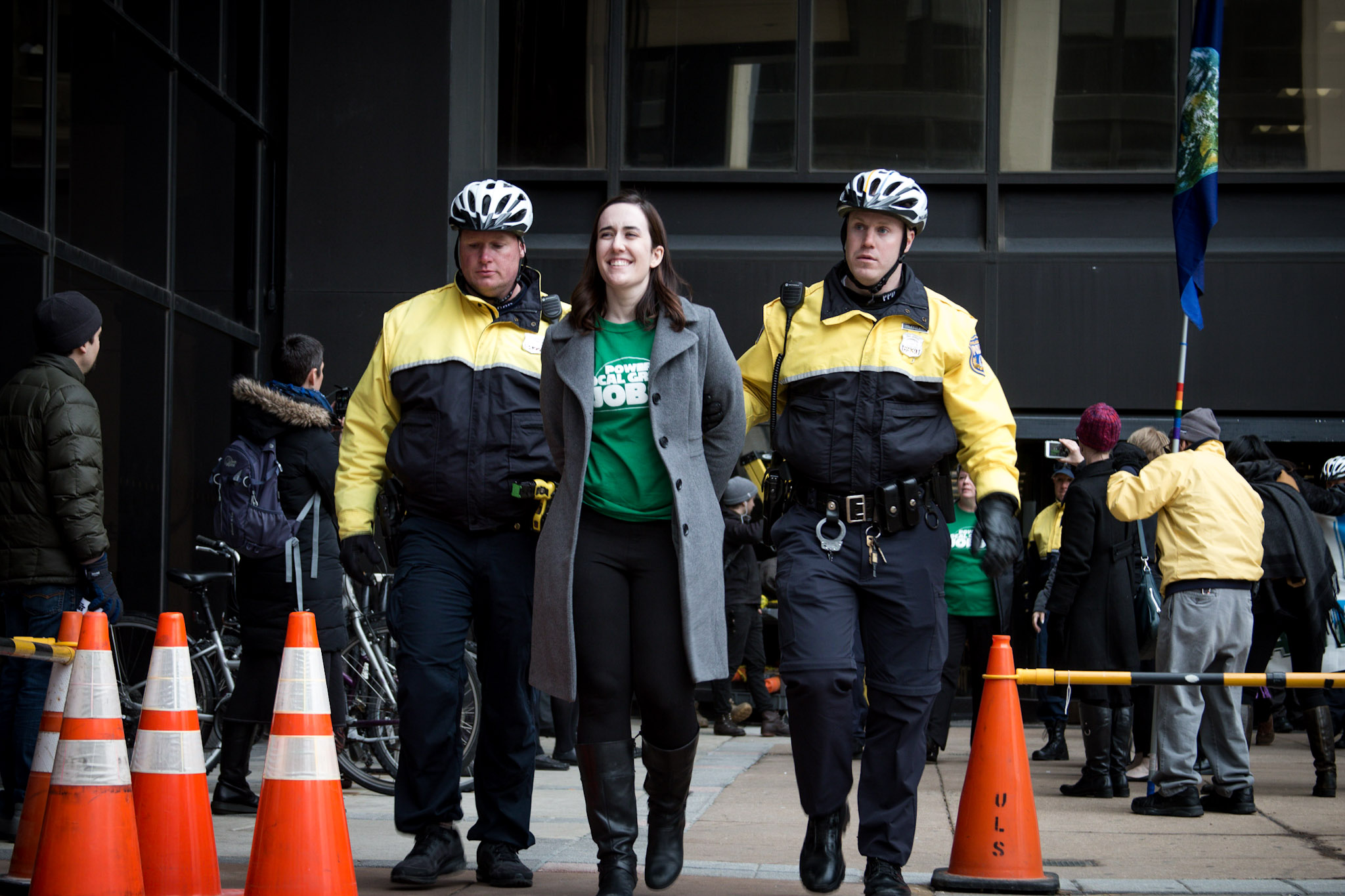 Christy Tavernelli being arrested for challenging PECO
