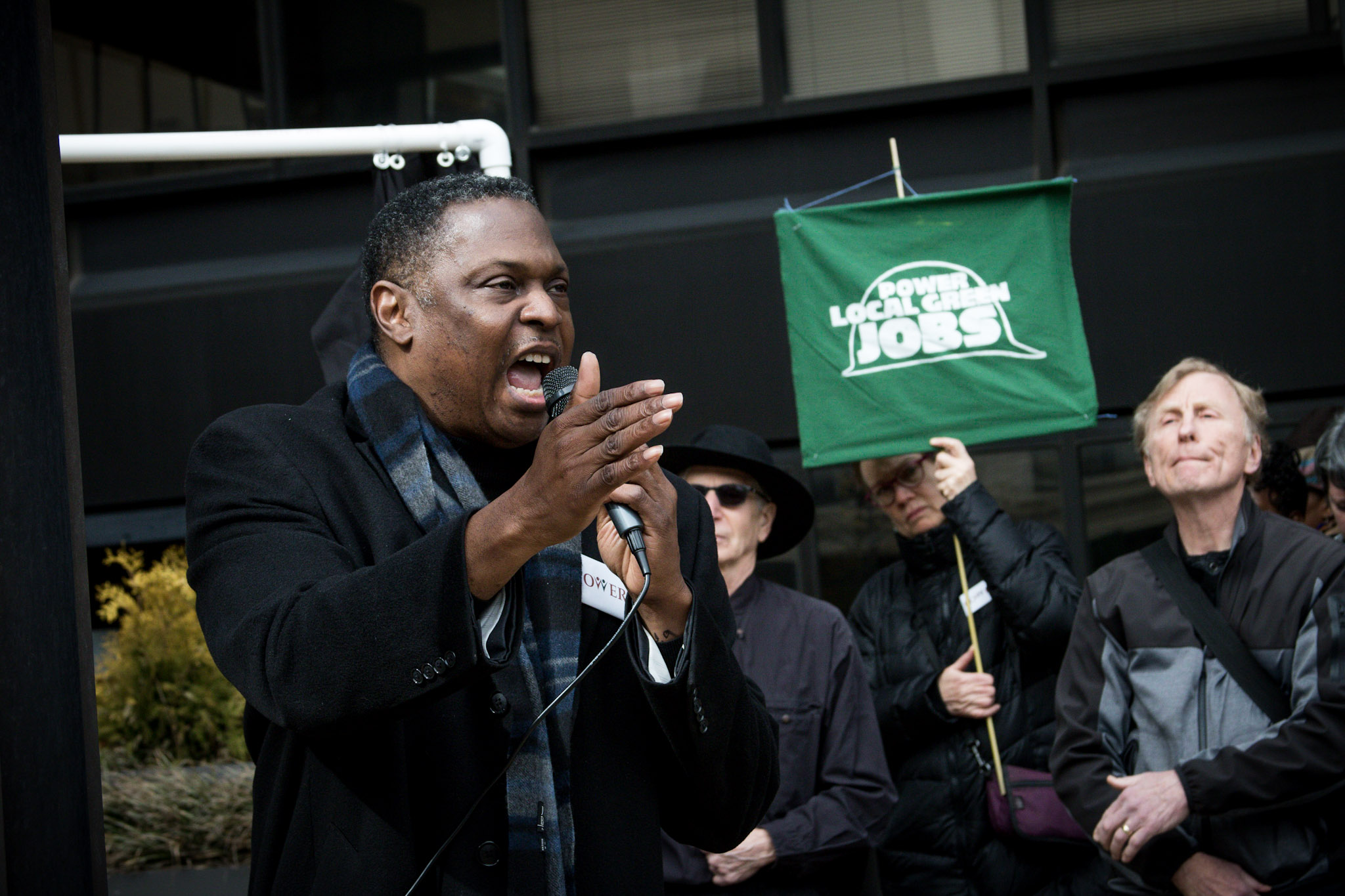 Rev. Holston of POWER speaks at the Day of Mourning. Photo by Rachael Warriner.