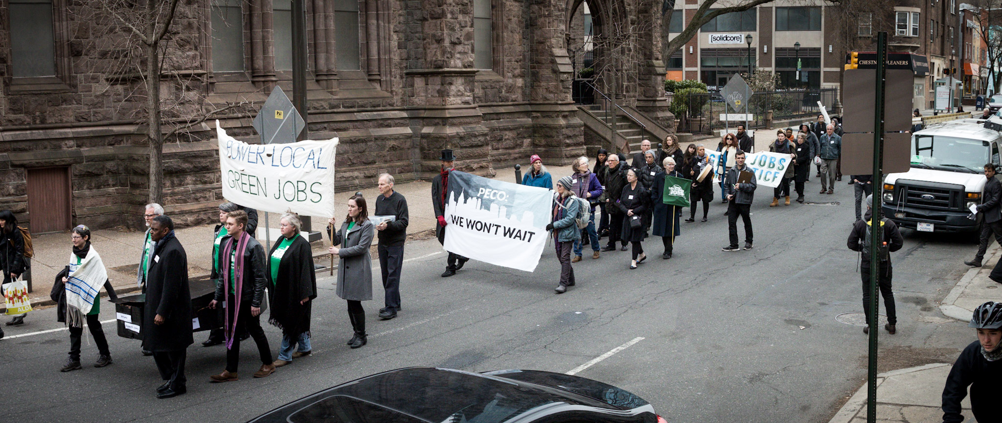 Procession at We Won't Wait Day of Mourning. Photo by Rachael Warriner.