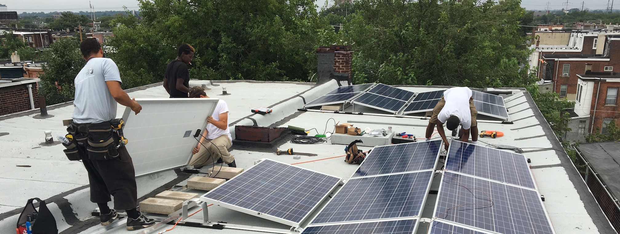 Solar installation on Serenity House