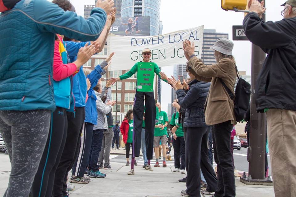 Stiltwalking for Green Jobs