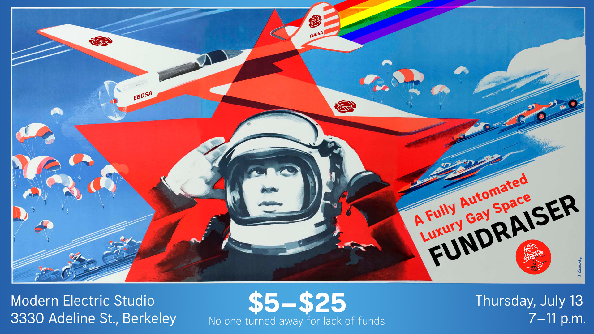 A Fully Automated Luxury Gay Space Fundraiser