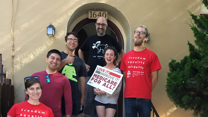 North Oakland District Canvass for Single Payer Health Care @  info@eastbaydsa.org