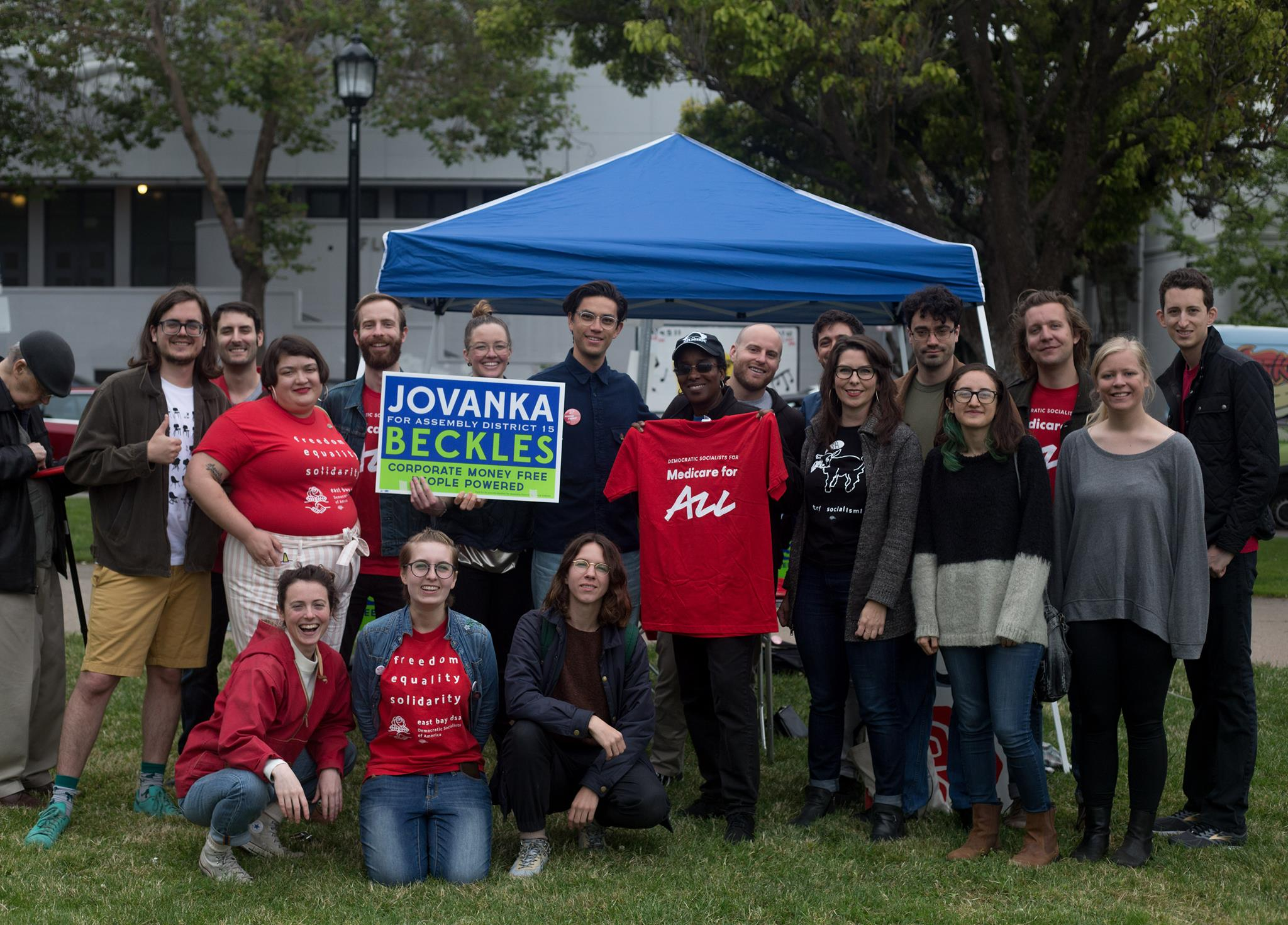 Jovanka Beckles and East Bay DSA