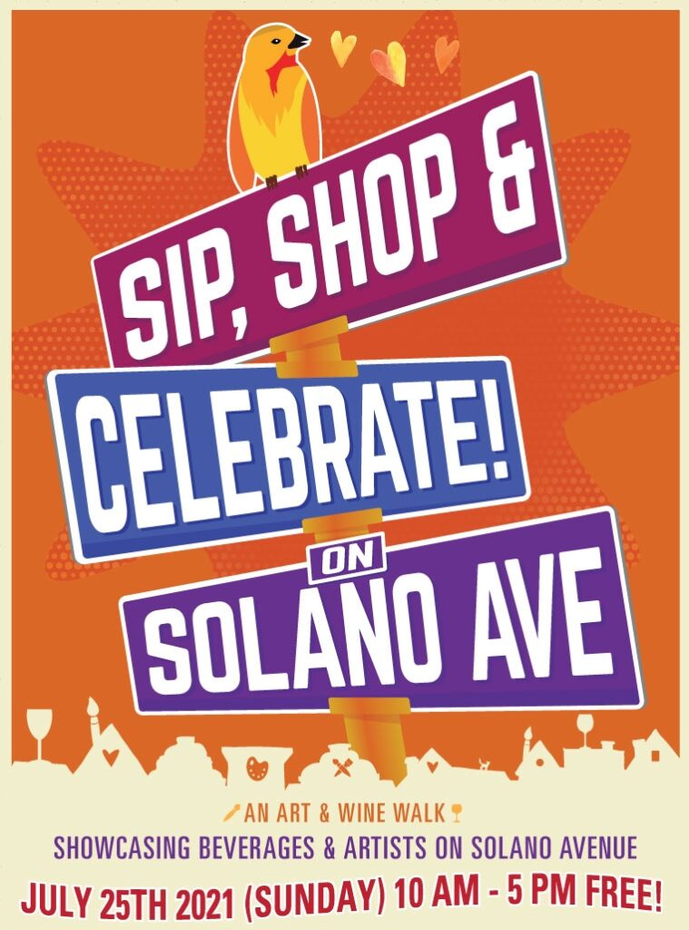 Sip Shop and Celebrate on Solano Avenue July 25