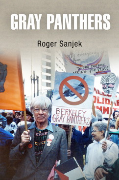 Gray Panthers book cover featuring person holding Berkeley panthers sign
