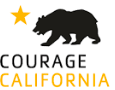 Courage California logo:Bear with orange star