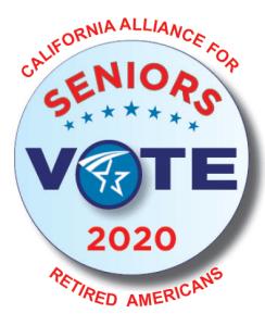 California Alliance for Retired Americans:Seniors Vote button