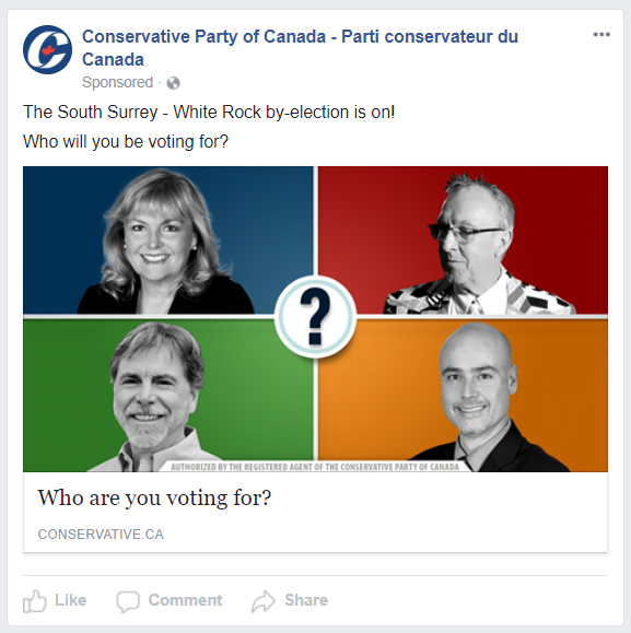 Conservative Party Facebook Ad
