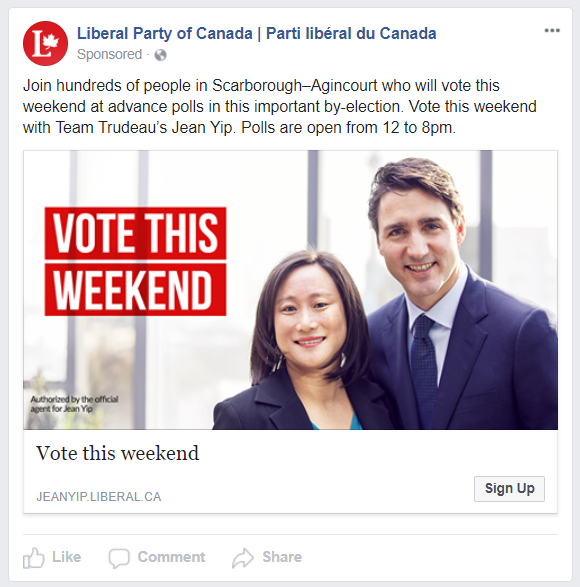 Liberal Party Facebook Ad