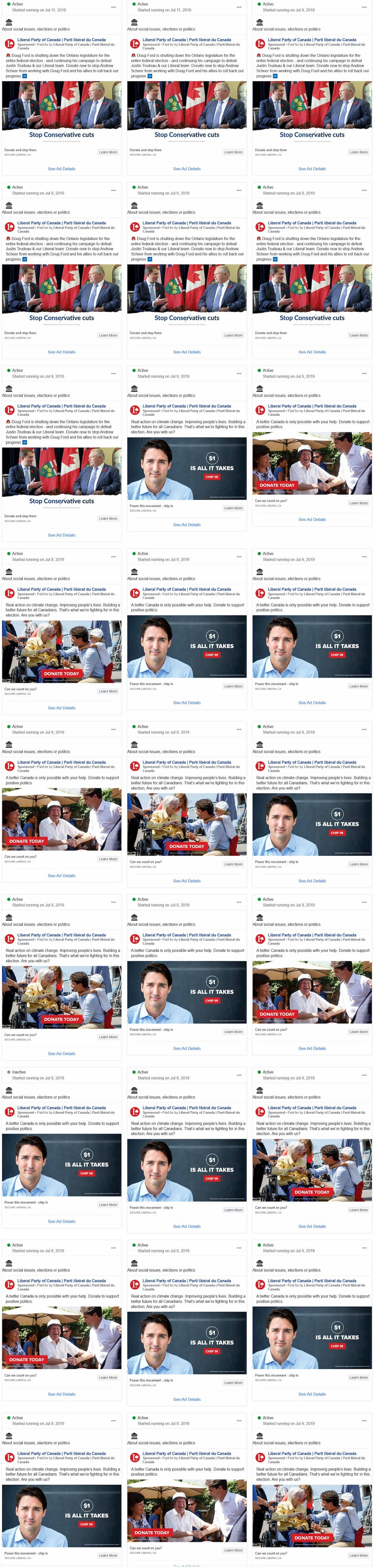 Liberal Party Facebook Ads