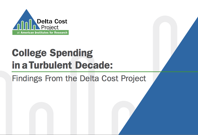 AIR Delta Cost Project: College Spending (cover)