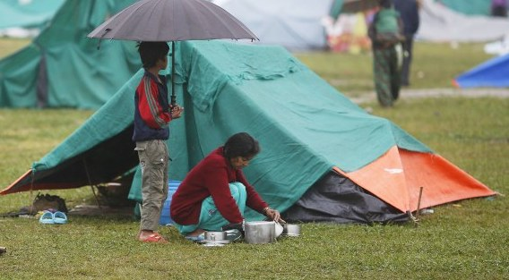 Simple Emergency Shelter in Nepal
