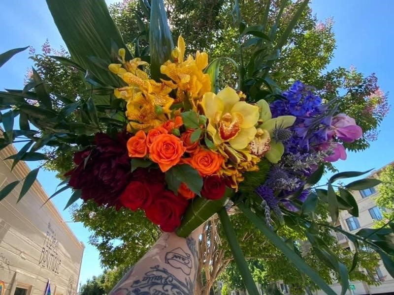 Rainbow Pride bouquet