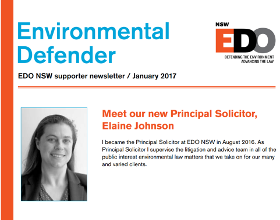 Environmental Defender January 2017