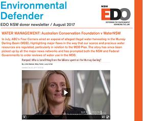 Environmental Defender August 2017