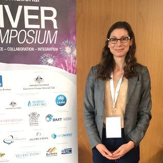 Emma at the International River Symposium September 2015