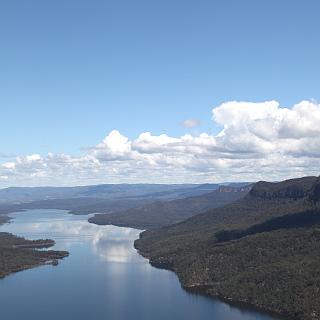 Nattai River from the air