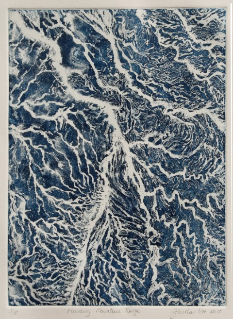 'Flooding Mountain Range' Print by Glenda Orr (2015)