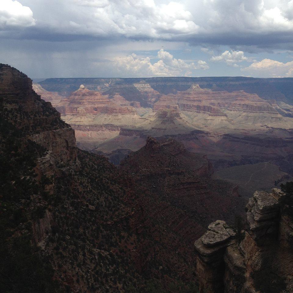 Monsoon season in Arizona creates beautiful light over the canyon