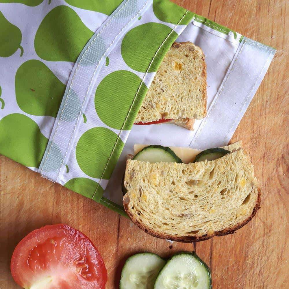 Reusable, resealable, lunch bags help reduce landfill waste