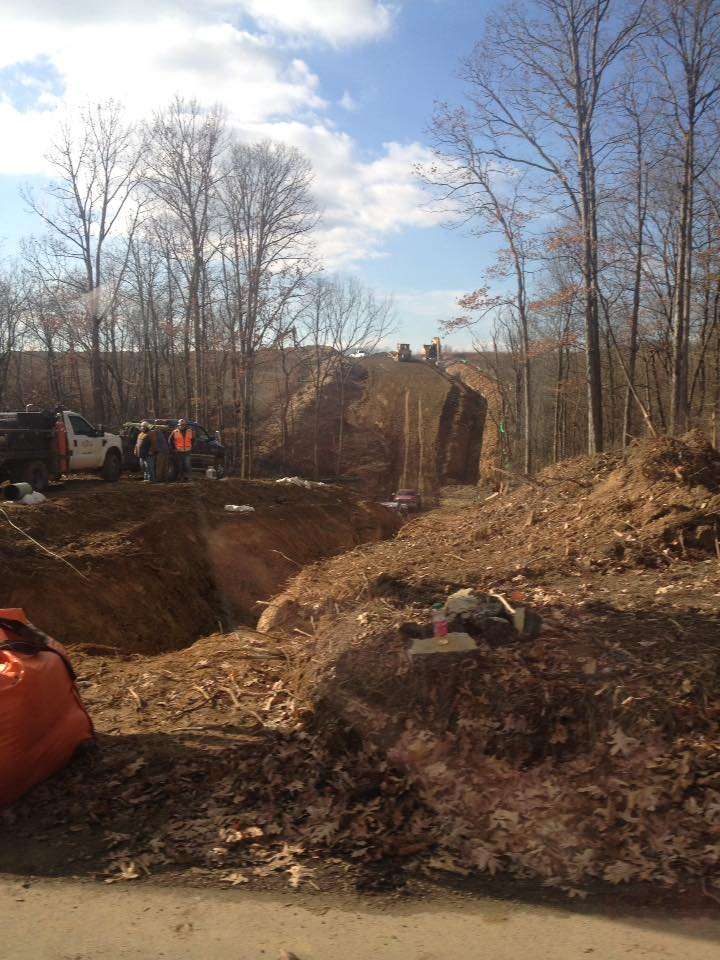 Pipeline Ditches being dug across Southwest Pennsylvania with out public hearings and seizing farm land using eminent domain