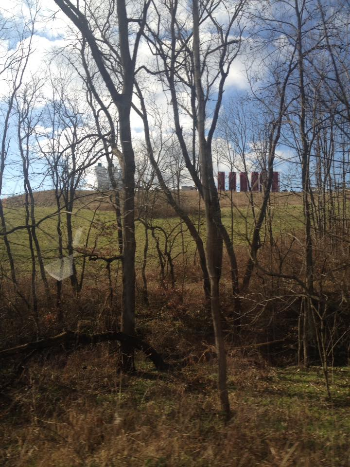 A fracking pad sits on top of a hill in Southwestern Pennsylvania