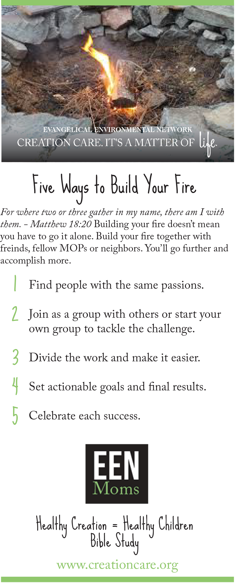 Find Your Fire - Build Your Fire Ideas