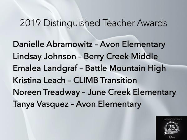 Distinguished Teacher Award Winners