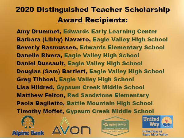 Distinguished Teacher Award Winners