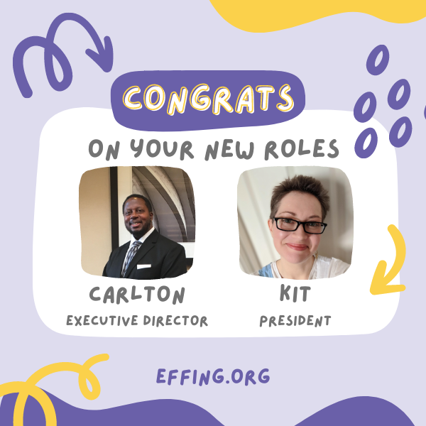 Congrats to Carlton and Kit on their new roles