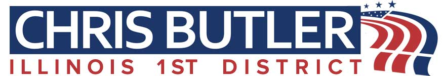 Democrat Chris Butler for US Congress Illinois 1st District<br />Paid for by People To Elect Chris Butler