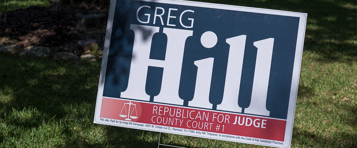 Donate to Greg Hill's Campaign for Judge