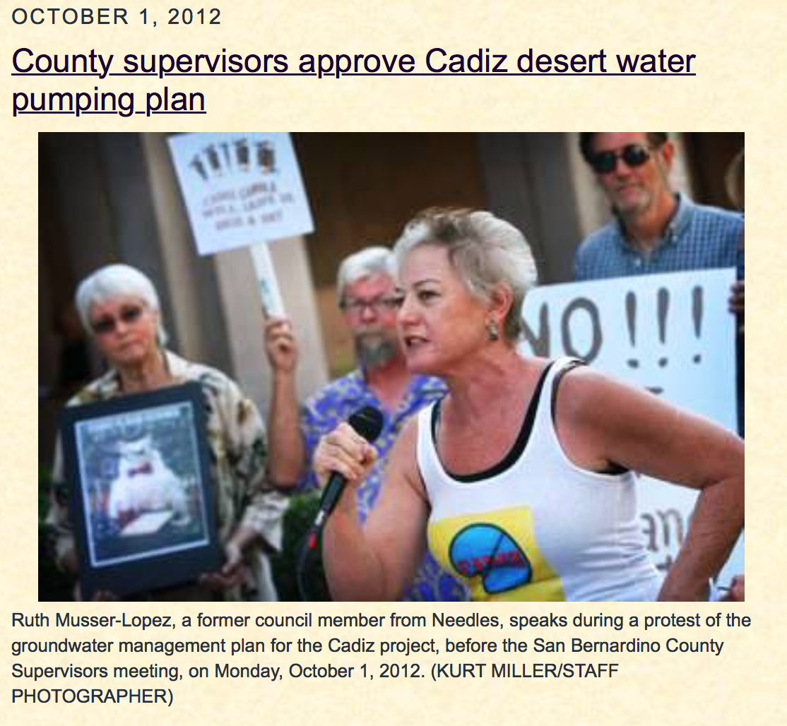 RUTH WAVE - in solidarity against the Cadiz Water Heist