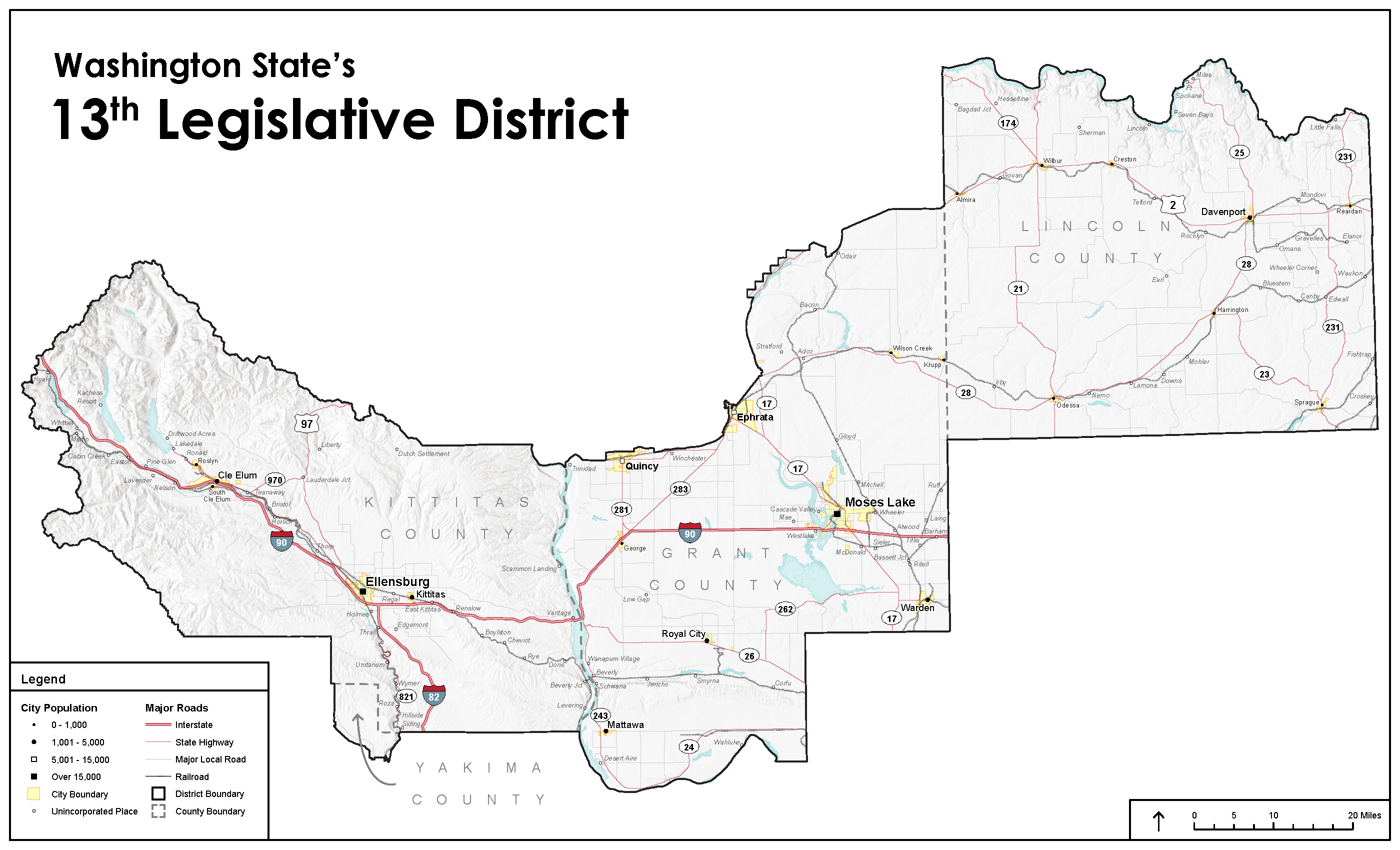 13th Legislative District Map