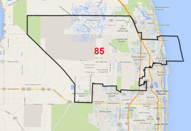 Map of District 85