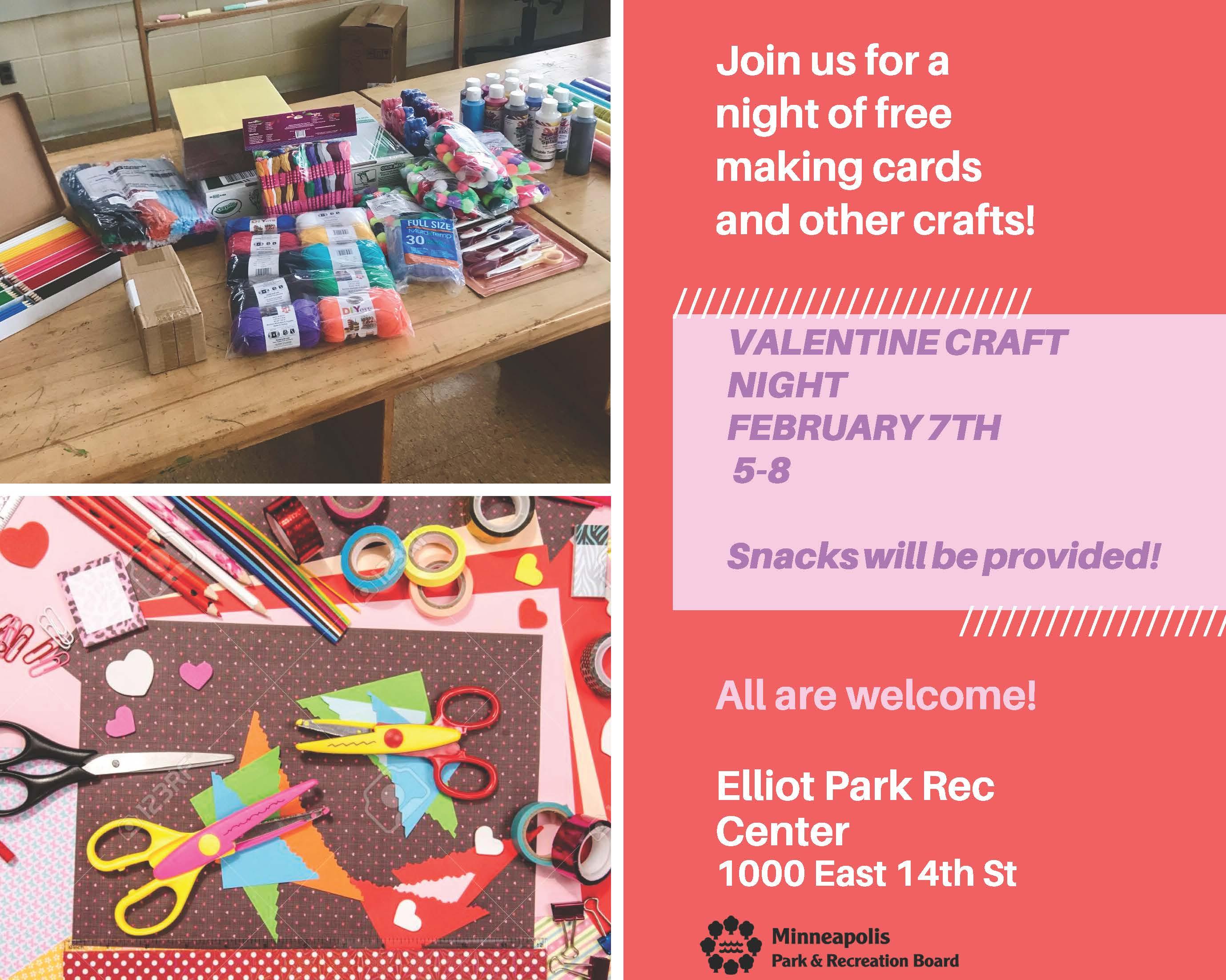 Valentine's craft night