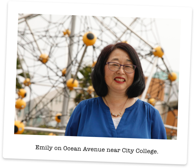 Emily Murase on Ocean Avenue