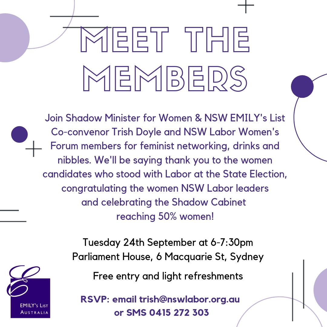 Meet the Members - EMILY's List Australia