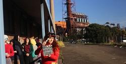 On the set of Women in Steel