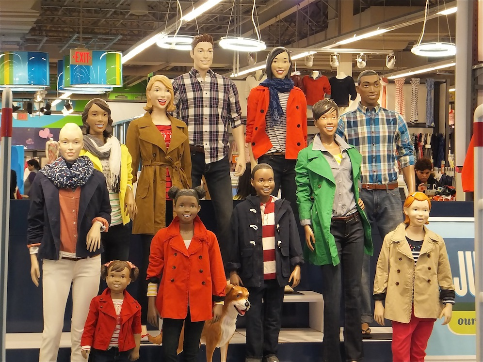 Maniquíes de Old Navy/Foto por Sharon Haywood