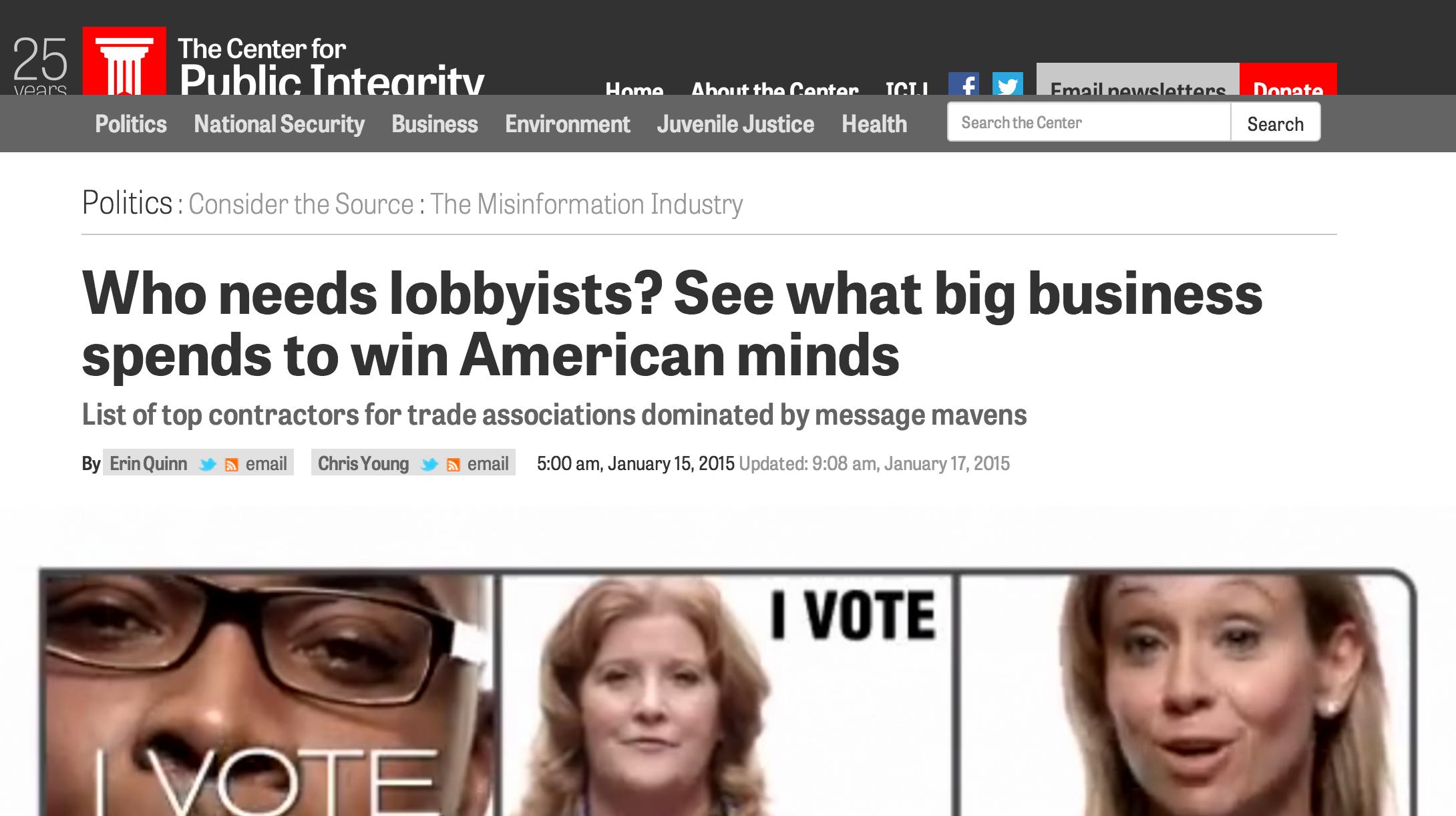 essay on lobbying campaign