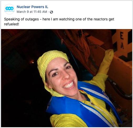 Dorothy Wallheimer Facebook Post About Reactor Refueling
