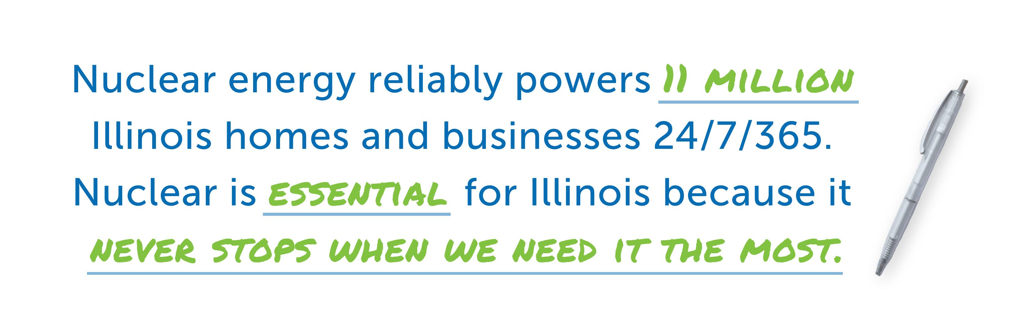 Nuclear energy reliably powers Illinois