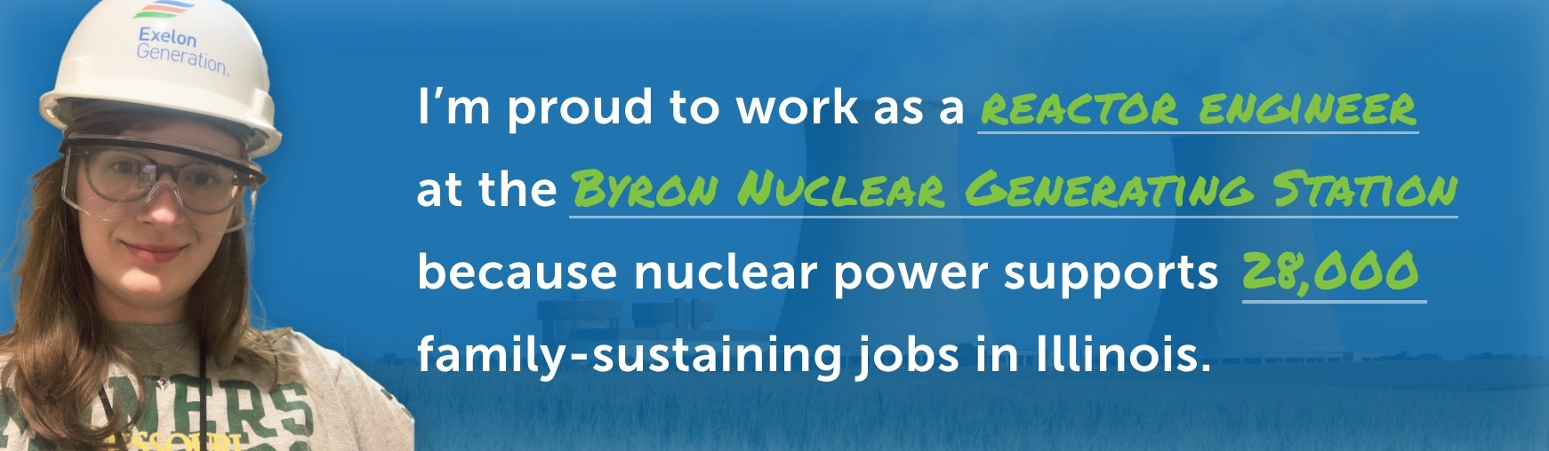 I'm proud to work as a reactor engineer