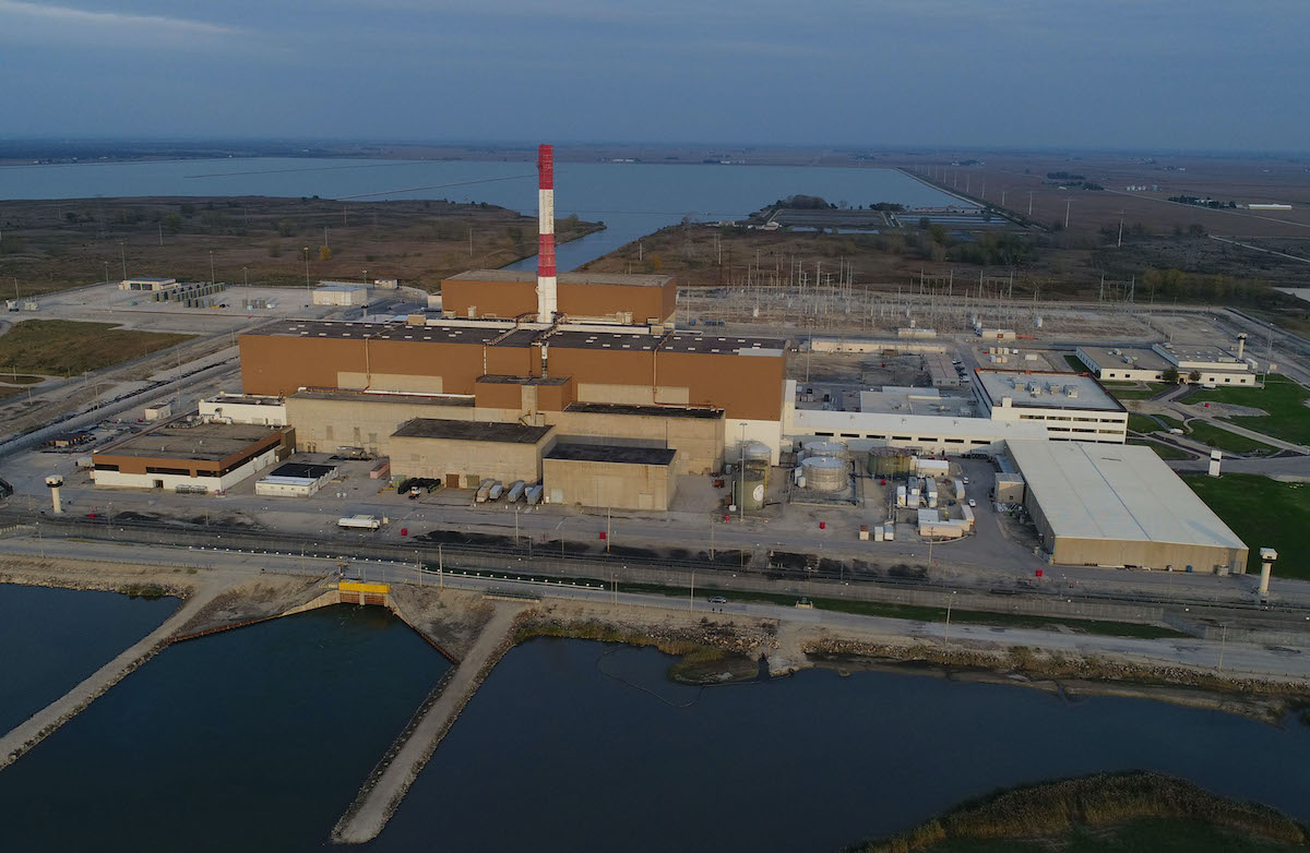 An aerial photo of LaSalle County Generating Station, a nuclear power plant