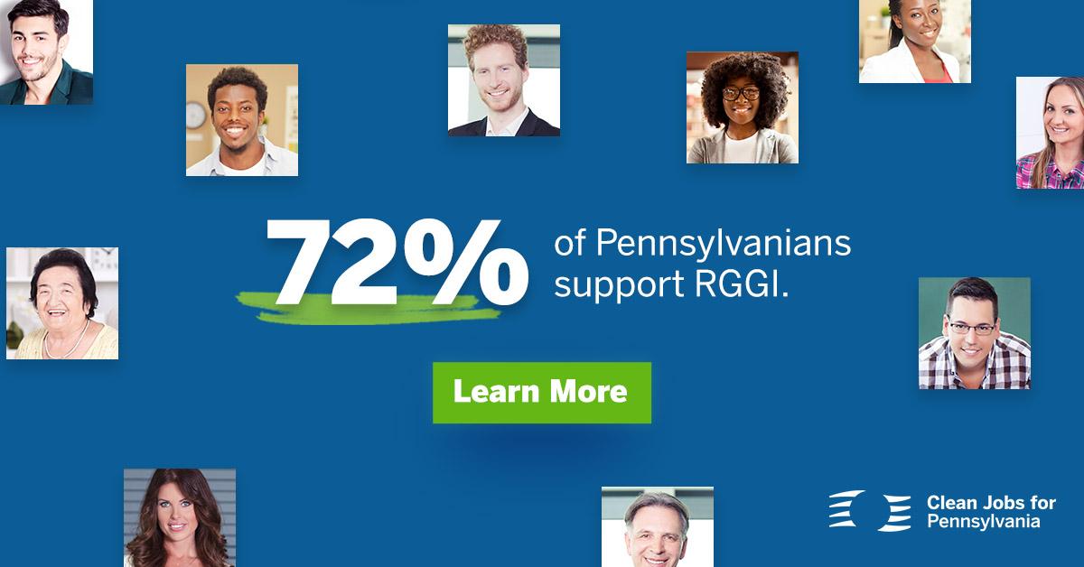 Seventy Percent of Pennsylvanians Support RGGI Graphic