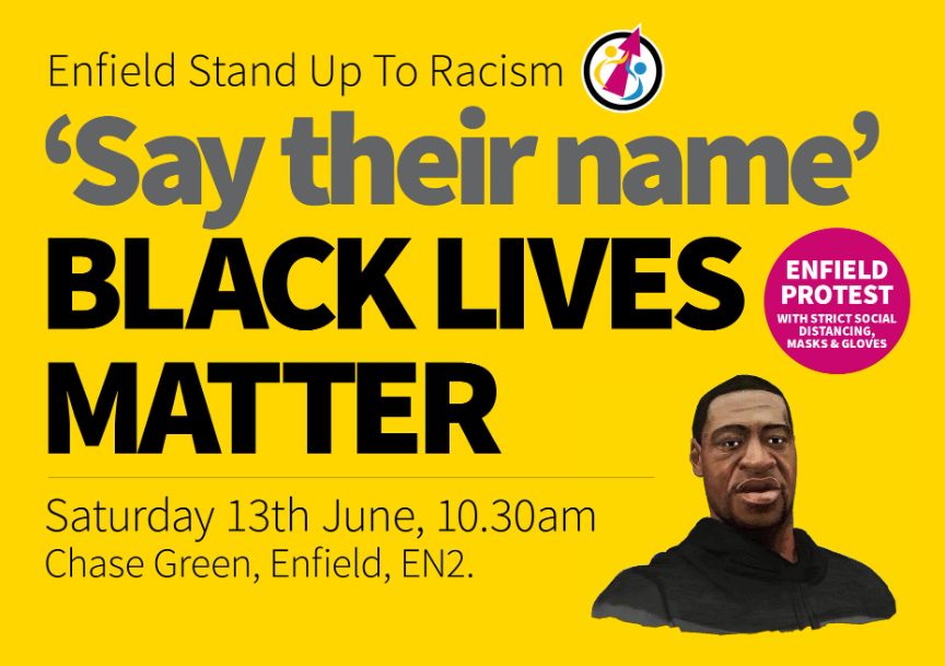 Enfield Town Protest - Sat 13th June