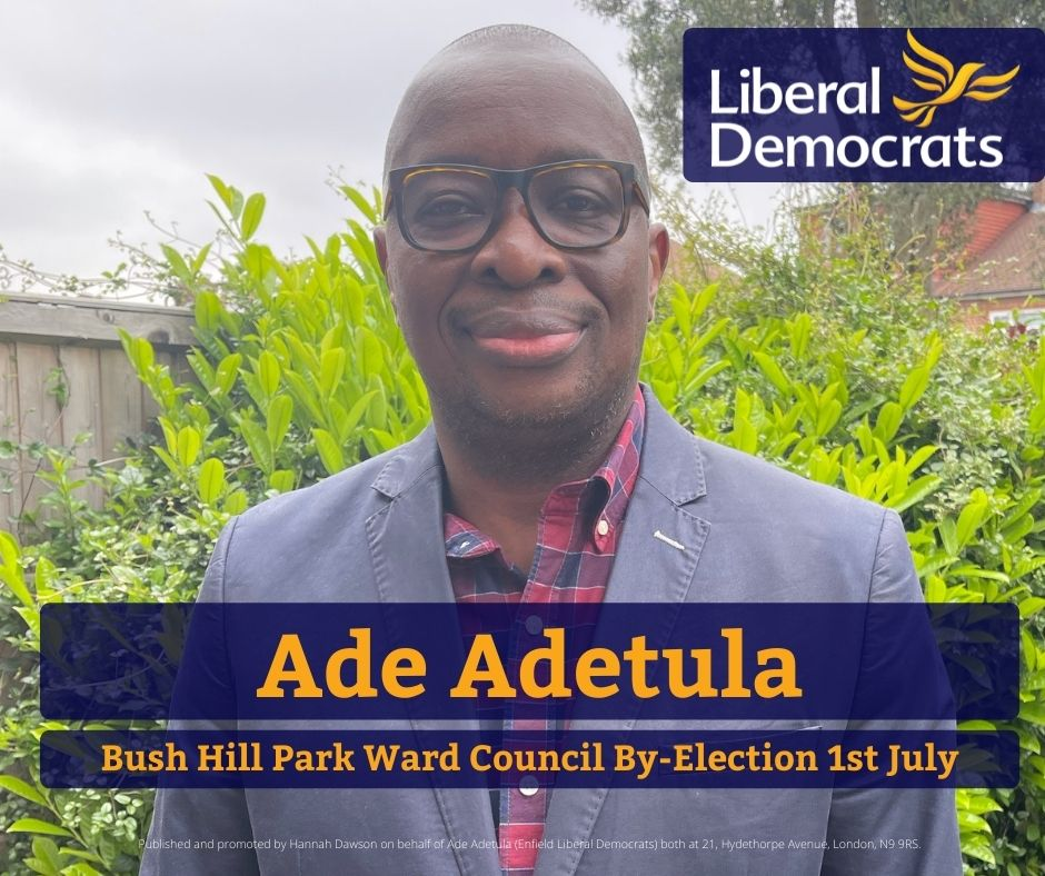 Our Candidate for the Bush Hill Park By-Election