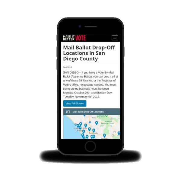 Make It Better. Vote! Drop-Off Location Finder